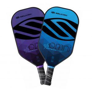 Selkirk Amped Omni Pickleball Paddle Blue and Purple